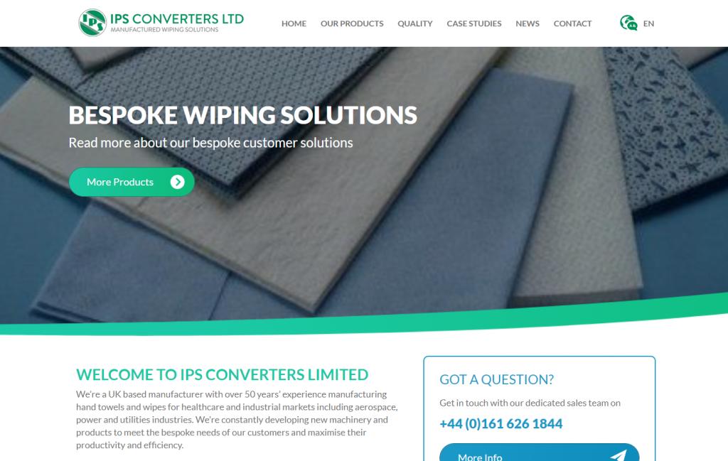 IPS Converters' new international website