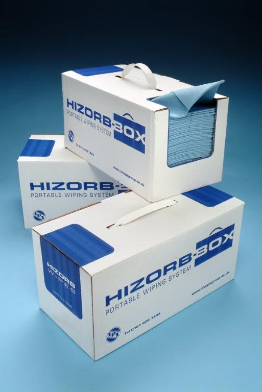 Boxes of Hizorb wipes